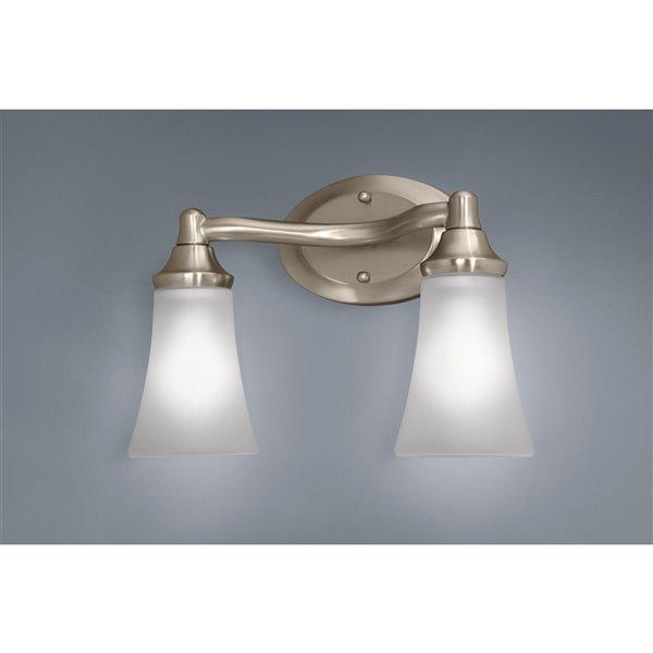moen eva chrome bathroom vanity light 2 light chrome