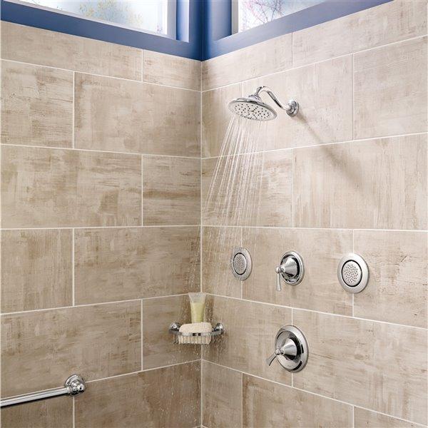 moen wynford bathtub and shower faucet 1 handle brushed nickel valve sold separately