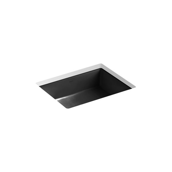 kohler verticyl rectangular under mount bathroom sink black