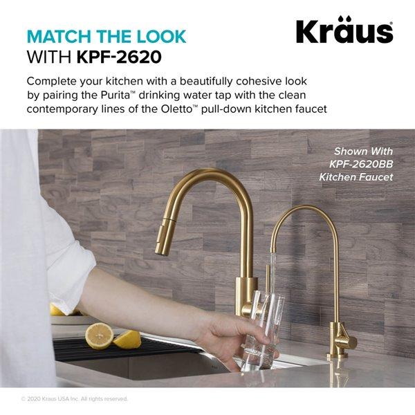 kraus purita drinking water dispenser beverage kitchen faucet matte black