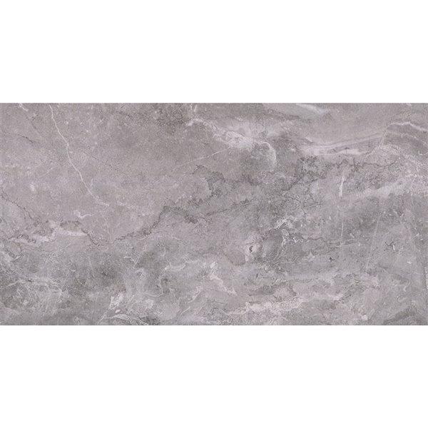 mono serra porcelain tile 12 in x 24 in excalibur dark gray 14 21 sq ft case 7 pcs case