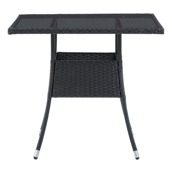corliving parksville square patio dining table 31 in x 31 in black