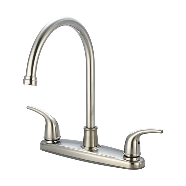 olympia faucets accent two handle kitchen faucet brushed nickel