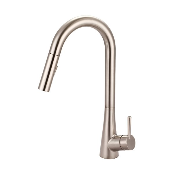olympia faucets i2 single handle pull down kitchen faucet brushed nickel