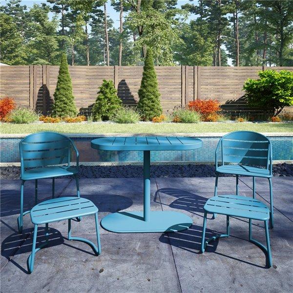 cosco outdoor furniture 5 piece patio bistro set turquoise