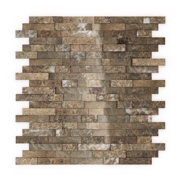 speedtiles bengal natural stone peel and stick wall tile linear pattern 11 77 in x 11 57 in light brown