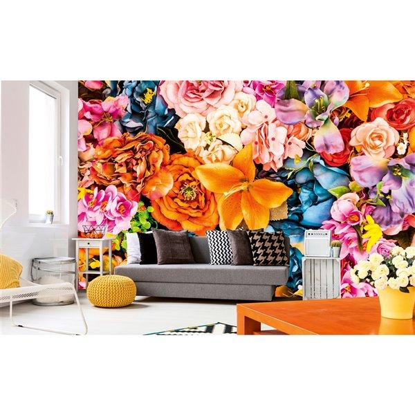 papier peint fleurs vintage de dimex 12 pi 3 po x 8 pi 2 po