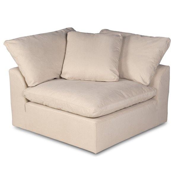 sunset trading cloud puff slipcover only for modular sectional sofa 5 pieces performance fabric tan