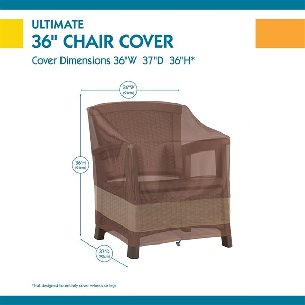 duck covers ultimate patio chair cover polyester 36 in mocha cappuccino