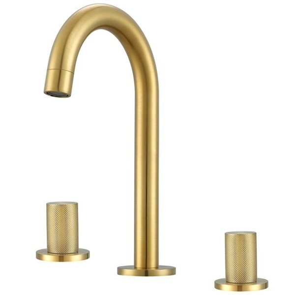 ancona industria widespread bathroom sink faucet 2 handle brushed gold
