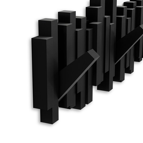 umbra sticks wall mounted coat rack black