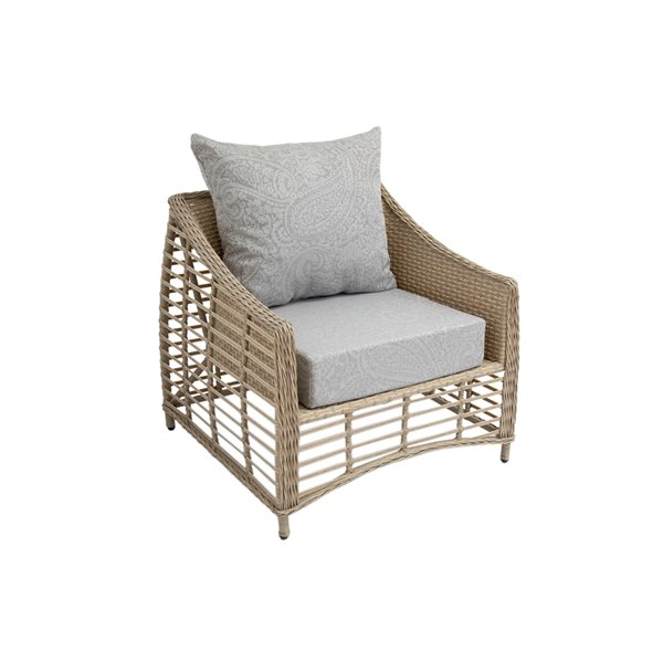 bozanto inc deep seat patio chair cushion square light grey