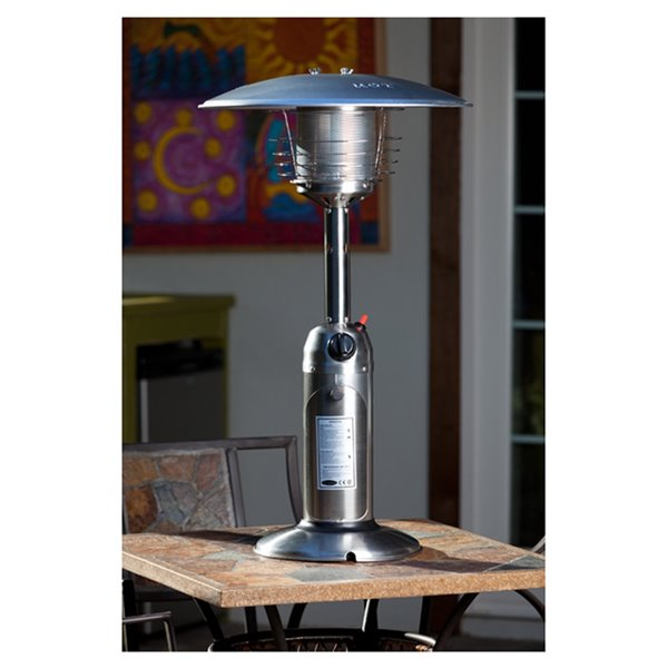 legacy table top propane patio heater 10 000 btu 36 4 in stainless steel