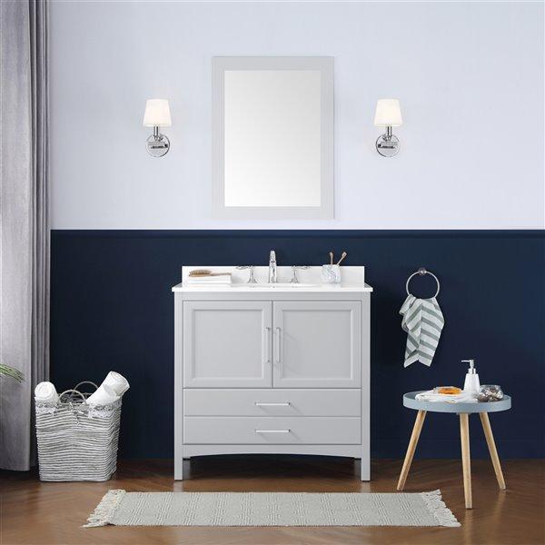 ove decors joyce 36 single sink bathroom vanity dove grey