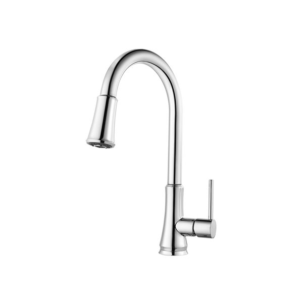 pfister classic 1 handle pull down kitchen faucet chrome