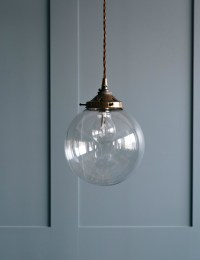 Globe Blown Glass Pendant Light at Rose & Grey