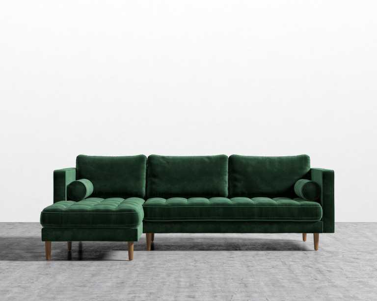 moss studio sofa reviews repair saggy cushions luca sectional rove concepts