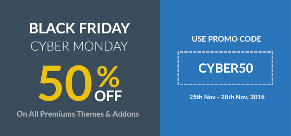 Black Friday Cyber Monday Sale rtMedia CYBER50