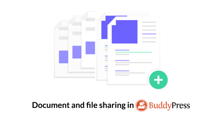 how to enable document and file sharing support in BuddyPress