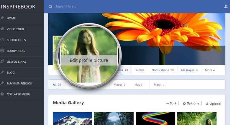 Cover Photo Feature rtMedia BuddyPress