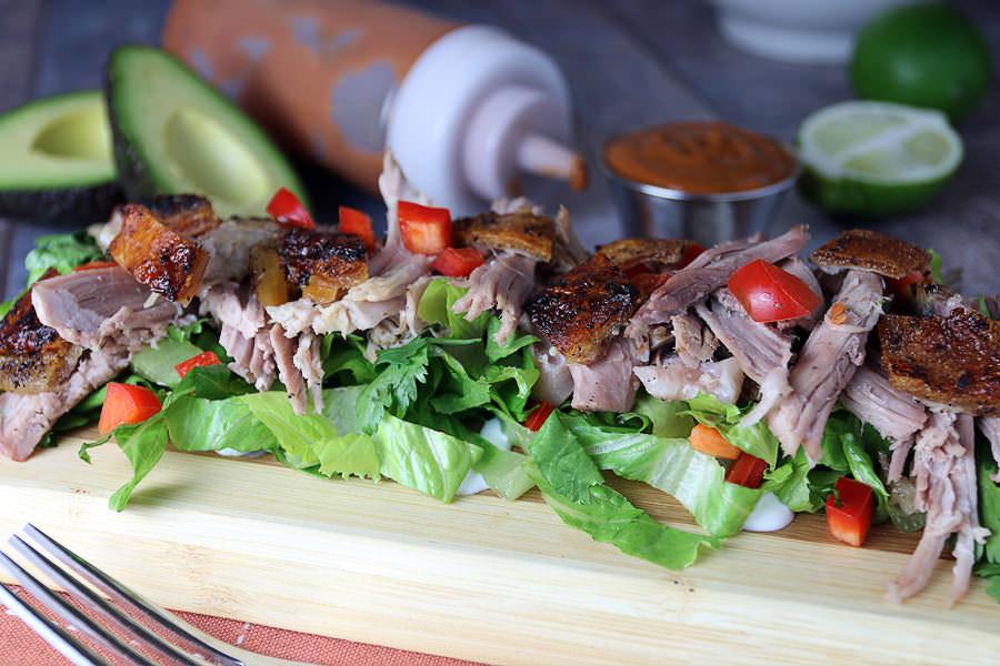Thai BBQ Pork Salad - Keto Lunch