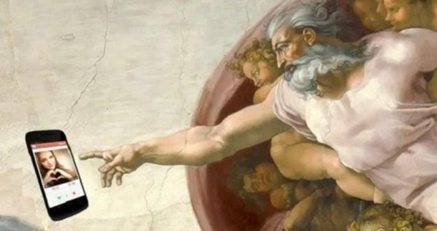Image result for god on tinder