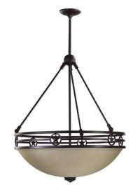 Quorum Lone Star 4 Light Pendant Lighting - Rustic ...