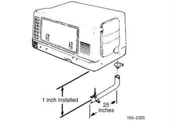 Cummins Onan Microlite Generator, Exhaust Tube Kit, 25