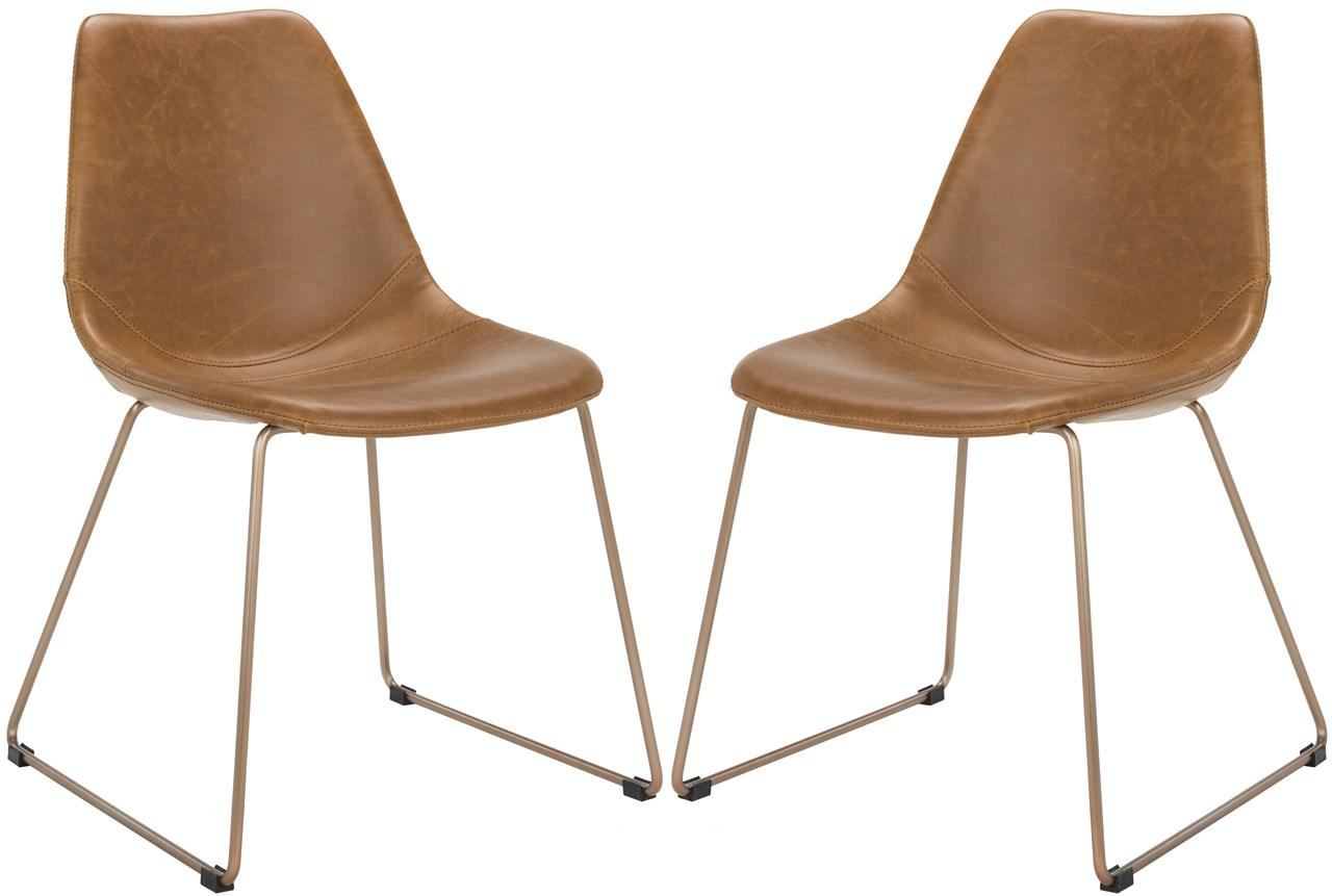 Copper Dining Chairs Ach7003b Set2 Dining Chairs Furniture By Safavieh