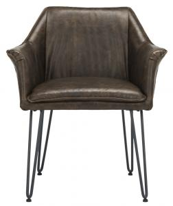 modern leather dining chairs with arms acorn chair lifts safavieh com esme 19 inch h mid century item fox1705b set2 color dark brown