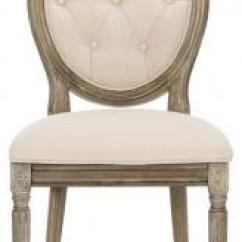 Safavieh Dining Chairs Marrakech Swing Chair Com Holloway Tufted Oval Side Item Fox6235b Set2 Color Beige Rustic Oak