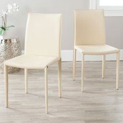 Safavieh Karna Dining Chair Glass Top Table Set 4 Chairs Fox2009e Set2 Furniture By