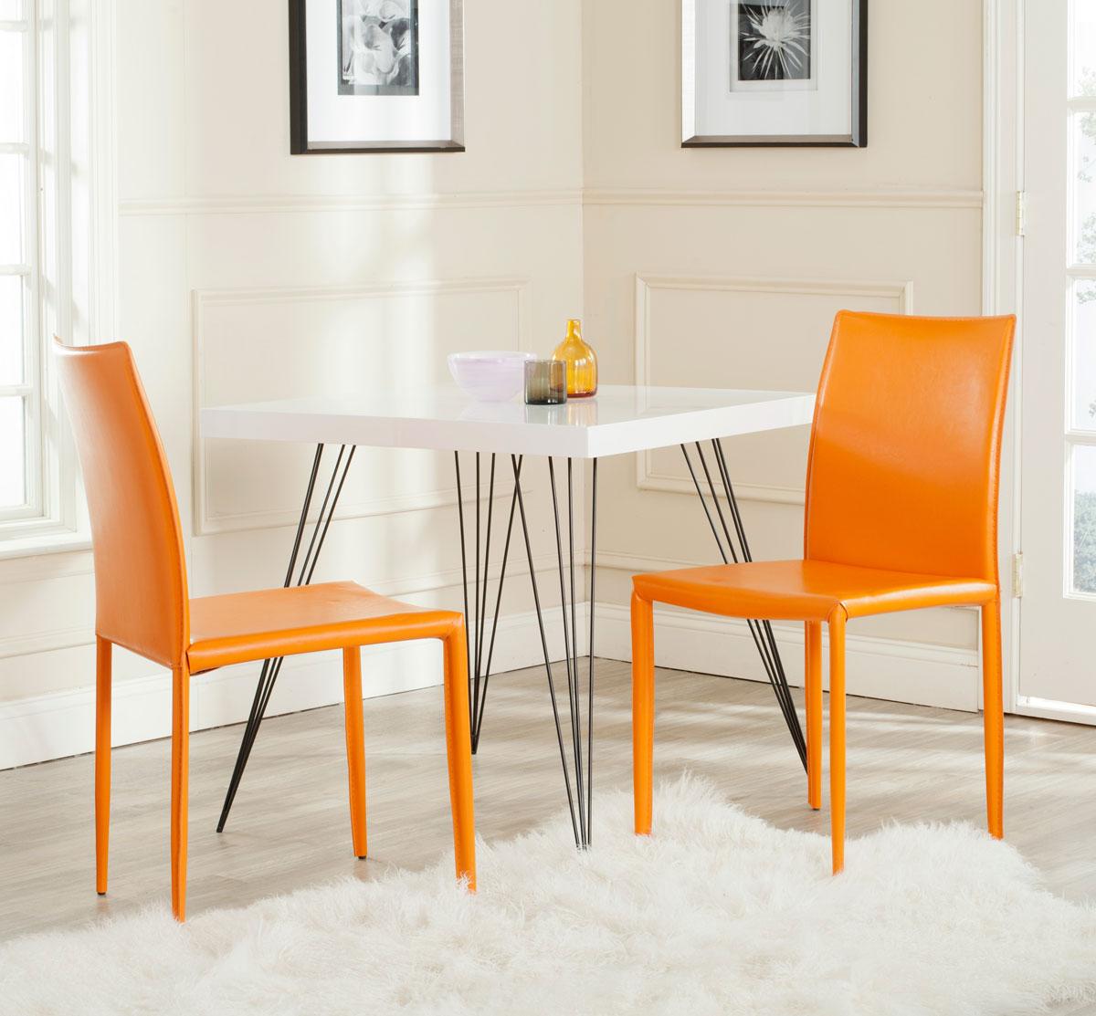 safavieh karna dining chair blue metal folding chairs fox2009g-set2 - furniture by