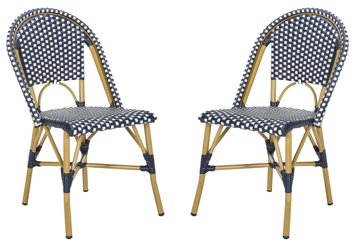Outdoor French Bistro Chairs Fox5210f Set2 Outdoor Dining Chairs Furniture By Safavieh