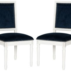 Navy Blue Dining Chairs Set Of 2 Swivel Chair In Rpa Furniture Collection Safavieh