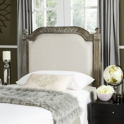 Chairs And Ottomans Upholstered Leopard Dining Chair Rustic Wood Beige Linen Headboard Headboards - Furniture By Safavieh