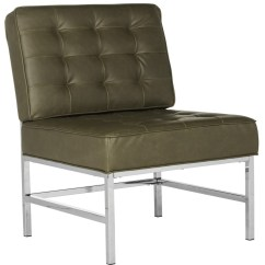 Target Armless Accent Chair Modern Leather Swivel Lounge Fox6268a Chairs Furniture By Safavieh