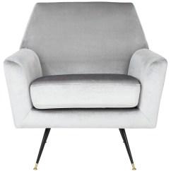 Light Grey Velvet Accent Chair Timber Ridge Zero Gravity Fox6270b Chairs Furniture By Safavieh