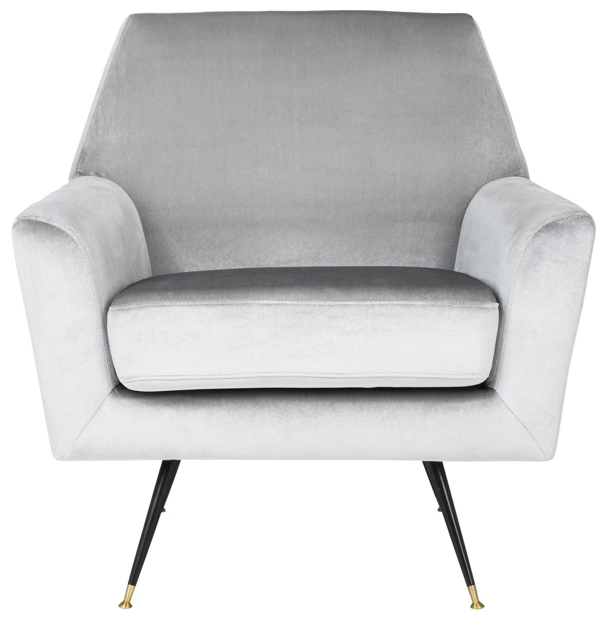 Gray Velvet Chair Fox6270b Accent Chairs Furniture By Safavieh