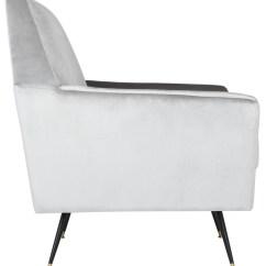 Light Grey Velvet Accent Chair Walmart Mats For Carpet Fox6270b Chairs Furniture By Safavieh