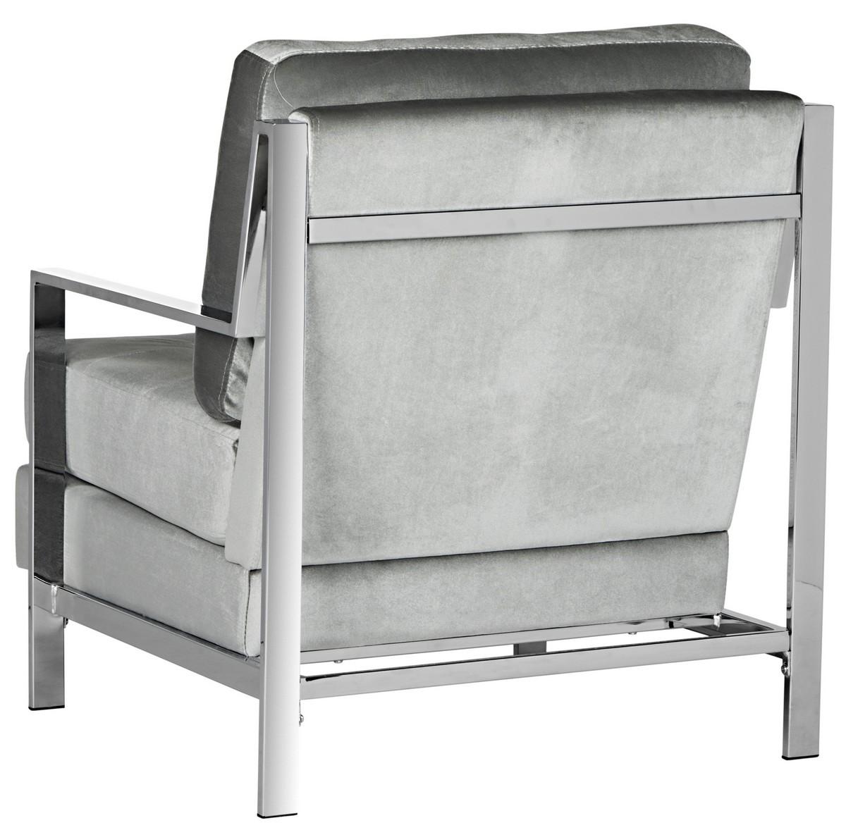 light grey velvet accent chair handicap recliner fox6279c chairs furniture by safavieh