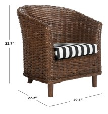 Rattan Barrel Chair