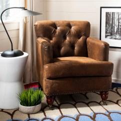 Safavieh Colin Tufted Club Chair Cheap Modern Chairs Hud8212b Accent Furniture By