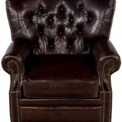Tufted Nailhead Chair Ergonomic Near Me Traditional Leather Armchair Safavieh