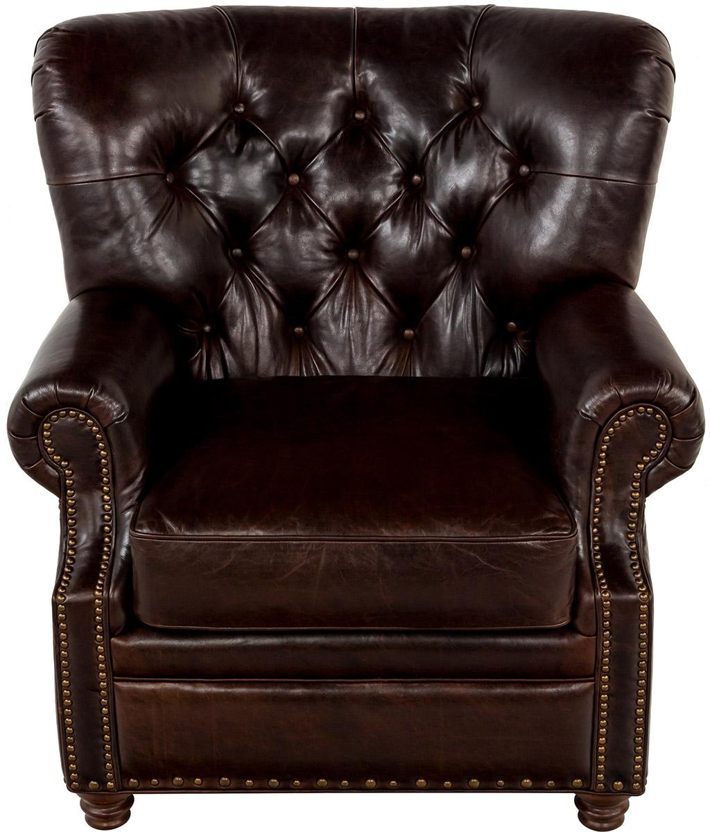 Tufted Leather Chair Traditional Leather Tufted Nailhead Armchair Safavieh