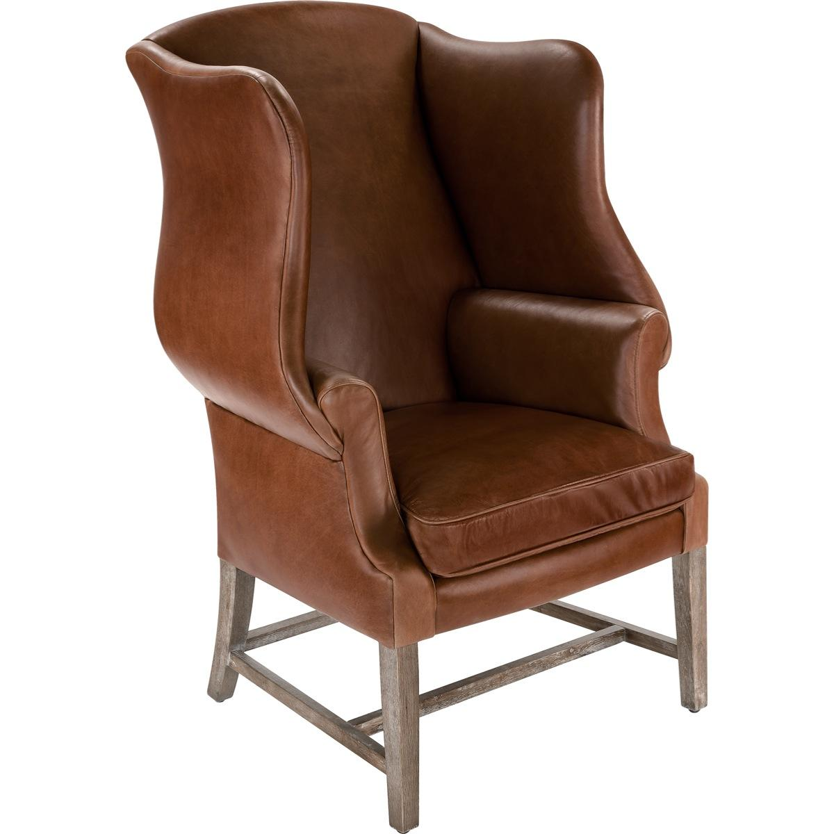 Best Leather Chairs Top Grain Leather Chippendale Wing Chair Safavieh
