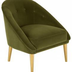 Olive Green Velvet Accent Chair Swivel Glider Recliner Knt7018a Safavieh