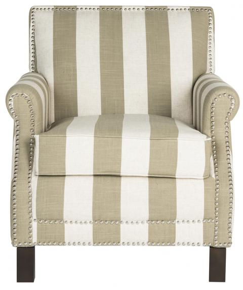 blue and white striped accent chair vintage toledo bar beige safavieh com product details