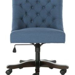Blue Green Chair Conference Room Chairs With Casters Desk I Office Computer Safavieh Com Soho Tufted Linen Swivel Item Mcr1030d Color Navy