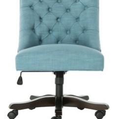 Desk Chair Turquoise Norman Cherner Pretzel Chairs I Office Computer Safavieh Com Soho Tufted Linen Swivel Item Mcr1030e Color Light Blue
